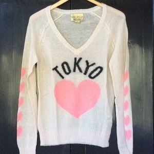 Wildfox Rainbow Dream Girls Tokyo Sweater